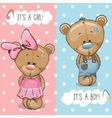 Teddy Bears boy and girl vector image vector image