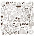 travel - doodles collection vector image vector image