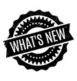 what s new rubber stamp vector image vector image