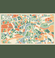 london england map in abstract retro style vector image