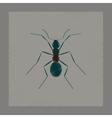 flat shading style cartoon ant vector image