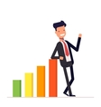 Businessman or manager stands by positive earnings vector image