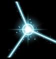 abstract laser beams aqua color vector image vector image