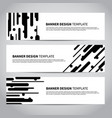 banner covers with abstract flat geometric pattern vector image