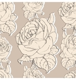 Beige Vintage Roses Fabric Retro Repeating vector image
