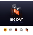 Big day icon in different style vector image vector image