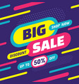 big sale shop now - concept banner vector image