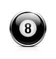 Billiard eight ball icon vector image vector image