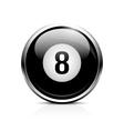 Billiard eight ball icon vector image