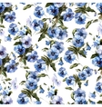 Blue flowers 3 vector image vector image