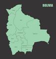 bolivia regions map vector image vector image