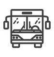 bus line icon transport and vehicle tour bus vector image vector image