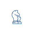 chess horse pawn line icon concept chess horse vector image vector image