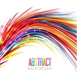 Colorful abstract line vector image vector image