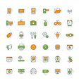 Computer and technology flat design icon set vector image vector image