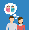 couple yearning children vector image