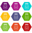 deadly liquid icons set 9 vector image vector image