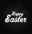 easter greeting card on black background vector image vector image