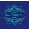 Elegant blue floral frame Lineart vector image