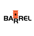 fall and rise of oil barrel prices vector image