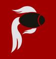 fish logo template creative symbol of fishing vector image vector image