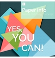 Flat design square banner with slogan vector image