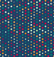 funky points seamless pattern with grunge effect vector image