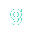 g letter logo geometric line outline icon mark vector image vector image