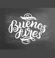 greetings from buenos aires greeting card with vector image