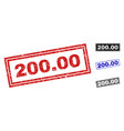 grunge 20000 textured rectangle stamp seals vector image vector image