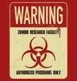 grungy biohazard symbol vector image