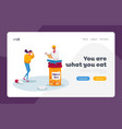 health and healthcare landing page template tiny vector image vector image