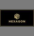 hm hexagon logo design inspiration vector image vector image