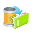 icon trash can and file vector image vector image