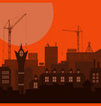 industrial european vintage styled city under vector image vector image