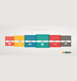 infographic timeline with icons step step vector image
