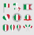 italy flag icons set italian flag symbol vector image vector image