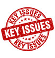 key issues red grunge stamp vector image vector image
