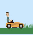 lawnmower man flat style vector image
