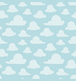 light blue clouds seamless pattern vector image vector image