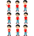 Little boy in various expression isolated vector image vector image