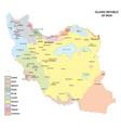 map with main language iran vector image