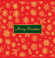 Merry christmas lettering greeting card snow