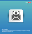 message icon - blue sticker button vector image vector image