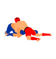 mma fighters mixed martial arts battle wrestling vector image vector image