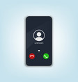 mobile phone call screen smartphone interface ui vector image