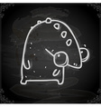 Monster Drawing on Chalk Board vector image vector image