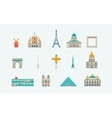 Paris historical and modern building vector image
