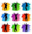 party peoples set vector image vector image