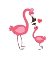 Pink Flamingo Mom With Flower Animal Parent And vector image vector image